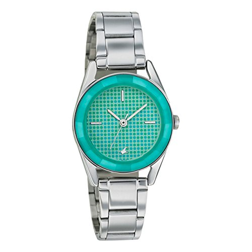 4105hQHYHzL - 6144SM02 Fastrack Girls Metal Green watch