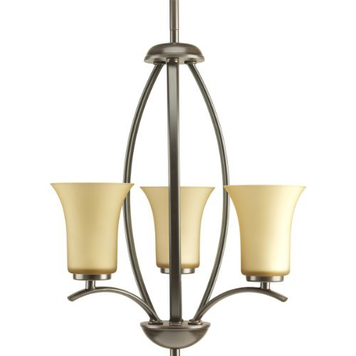 Progress Lighting P3587-20 Joy Collection 3-Light Foyer Pendant, Antique Bronze by Progress Lighting -