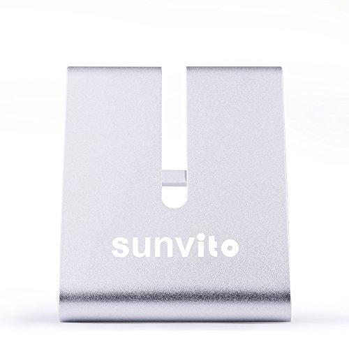 Sunvito Portable Universal aluminio Metal soporte mesa soporte de escritorio para iPhone iPad Smartphones Tablet (plata) width=