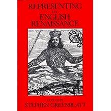 Representing the English Renaissance (Representations Books) by Greenblatt (1992-07-01)