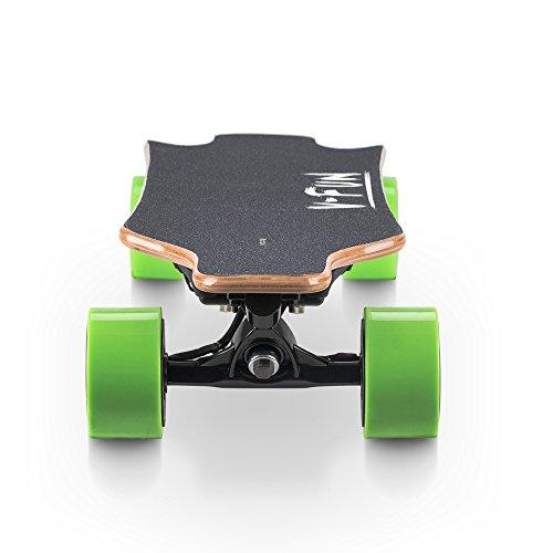 Koowheel – Monopatín/longboard eléctrico, versión dual, sin escobillas, motor de cubo, 4300mAh, recargable, con mando a distancia, verde