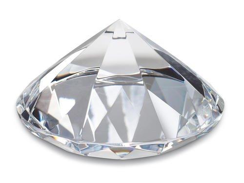 REFLECTS Dekodiamant Hochzeitsdeko Dekostein Briefbeschwerer Glasdiamant Briefgewicht 8cm