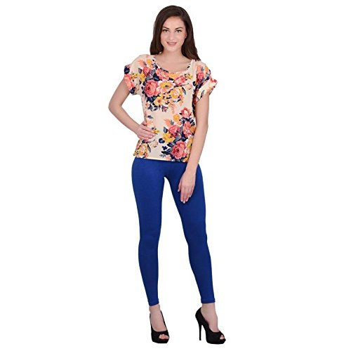 Leggings Jeggings for Women Girls Premium Quality Cotton Polyster Western Wear Stretchable Ankel Length Solids Color Free Size Compatible for Sports-wear, Yoga-wear, Arobics-wear , Party-wear, Casual-wear royalblue XXXL  available at amazon for Rs.299