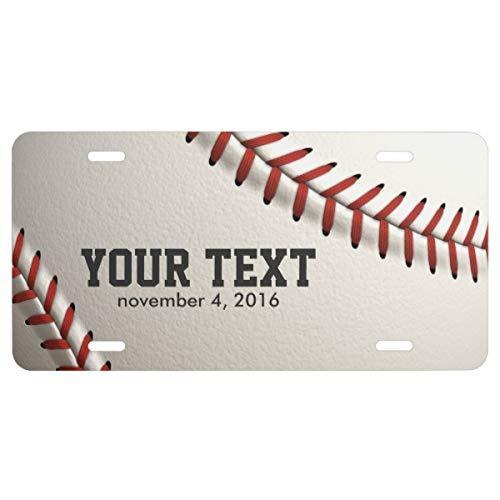 Baseball Stitch License Plate