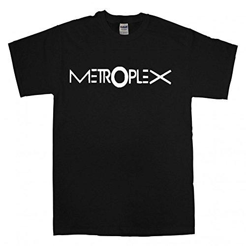 Metroplex Records bedruckt TShirt Schwarz - Schwarz