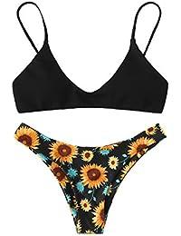 DIDK Mujer Conjunto De Bikini Estampado 172d9b75d2c