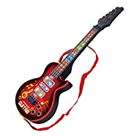 Finer Shop 4 Strings Music Electric Guitar Musical Instrument Educational Development Toy - Red