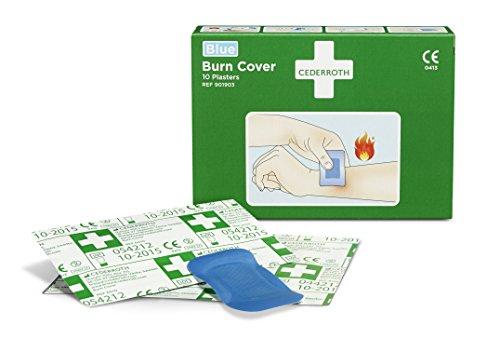 Cederroth Burn Cover Hydrogelpflaster für kleinere Brandwunden, 10 St.