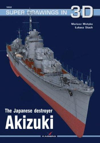 The Japanese Destroyer Akizuki (Super Drawings in 3D) por Mariusz Motyka