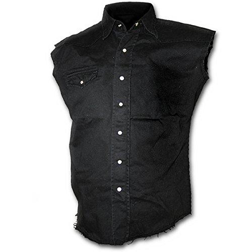 Spiral Solid Black Camisa trabajo sin mangas Negro M