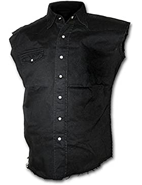 Spiral Solid Black Camicia senza maniche nero
