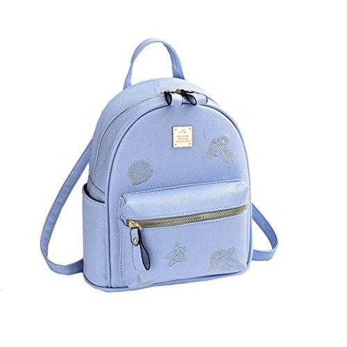 Flada , Damen Rucksackhandtasche beige beige M blau