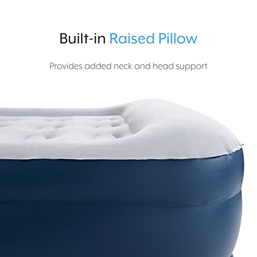 Premium Queen Size Double Air Bed with a Built-in Electric Pump and Pillow