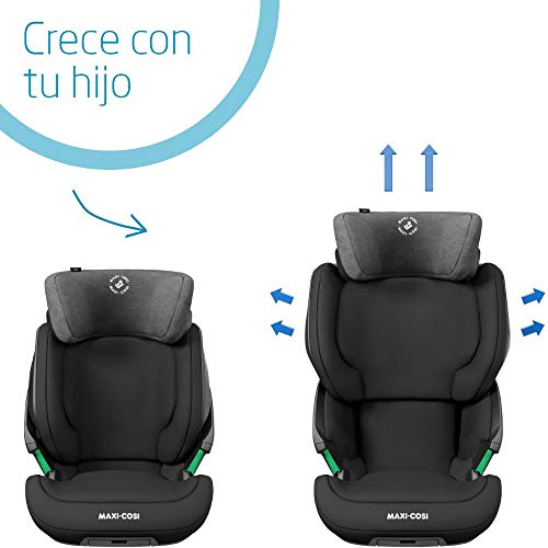 Bébé Confort KORE i Size 'Authentic Black' Silla de auto con ISOFIX, homologación i Size, grupo 23, 100 150 cm, 3,5 12 años, color negro