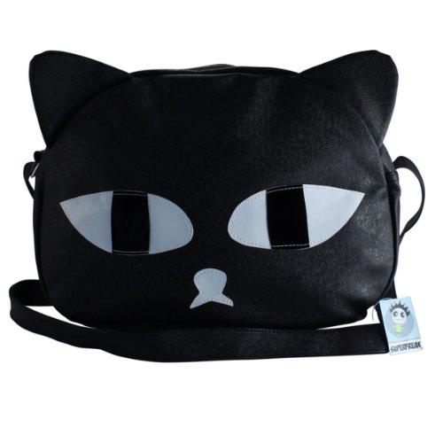 """Superfreak® Tasche Umhängetasche """"Katze"""", alle Farben!!! schwarz"""