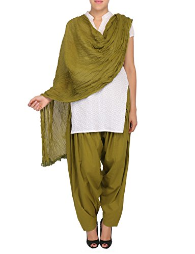 Womens Cottage Women's Combo Pack of 2 Pure Solid Cotton Semi Patiala...