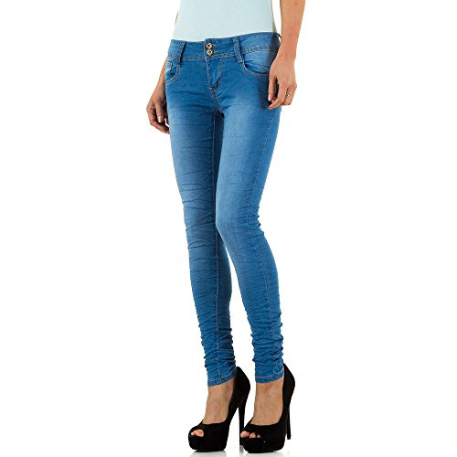 Used Look Low Skinny Jeans Für Damen bei Ital-Design Blau