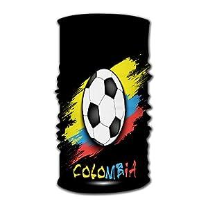 Kkyoxdiy Men & Women Bandana Face Sun Mask Soccer Ball and Colombia Flag Uv Protection Magic Scarf