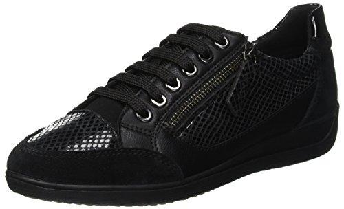 Geox D Myria A, Zapatillas para Mujer, (Black C9999), 39 EU