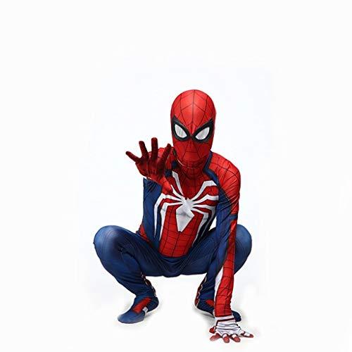 ZYFDFZ Miracle Spiderman Cosplay Kostüm 3D Print Halloween Bühnenkostüm Requisiten Maske ( Color : Blue , Size : M ) (Party Stadt Superhelden Kostüm Für Damen)