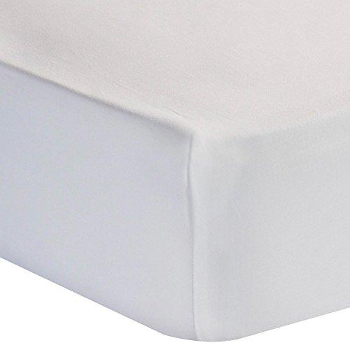 Homescapes Luxus Baumwoll-Satin Spannbettlaken 180 x 200 cm weiß 100% ägyptische Baumwolle Fadendichte 1000 Spannbetttuch - Ägyptische Baumwolle Bett