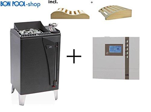 Preisvergleich Produktbild Saunaofen Bi-O-Max 9 kW incl. Econ H4 Saunasteuergeraet Bio EOS und 2 Kopfkeile