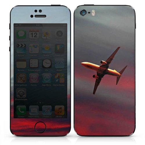 Apple iPhone 4s Case Skin Sticker aus Vinyl-Folie Aufkleber Flugzeug Fliegen Airplane DesignSkins® glänzend