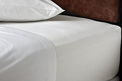 Pack of 2 Bunk Bed Size Fitted Sheets - WHITE