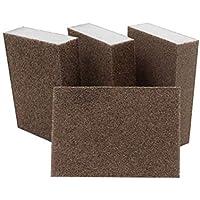 Yardwe 2 unids abrasivo bloque de esponja almohadilla abrasiva para muebles de pared piso molienda cocina herramienta de mano de limpieza