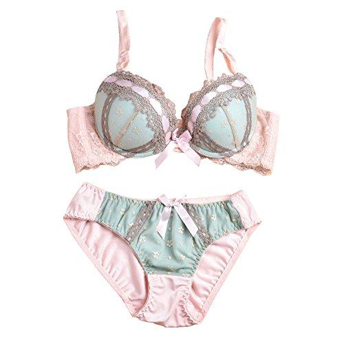 JIAJIA Damen Dessous-Set Gr. XX-Large, Grün - Demi Underwire Bikini