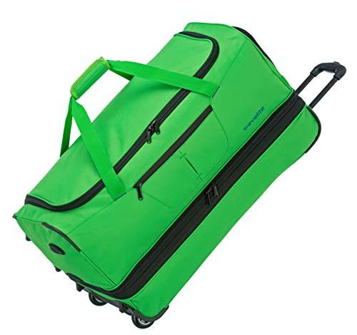 Travelite Basics Trolley Reisetasche auf Rollen 70cm, erweiterbar auf 119 Liter Volumen, in sechs Farben Reise-Henkeltasche, 70 cm, 98 Liter, Grün