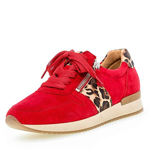 Gabor Shoes Damen Jollys Sneaker, Rot (Rubin/Natur 15), 39 EU