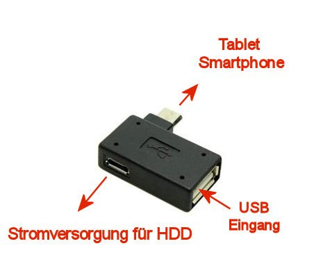 T-mobile-handys Galaxy S5 (KRS OTM - OTG Adapter Micro-USB-Stecker Typ B / USB-Kupplung Buchse Typ A OTG Android Roboter Robot -USB Adapter für Huawei Ascend Mate Mate 2 P6 P6S Samsung Galaxy S2 I9100 I9105P S3 I9300 I9305 Note N7000 Sony Xperia Z1 L39h Z1f Honami Mini Compact ZL L35i Tablet Z (OTM))
