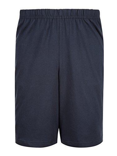 Herren Schlafanzug - Shorty mit Kontrastfarbener Brusttasche by Gregory smaragd/weiß/limon