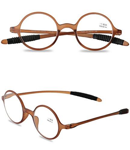 VEVISTARS Lesebrillen Herren Damen TR90 Brillen Nerdbrille Grau Schwarz Leopard Braun 1.0 1.5 2.0...