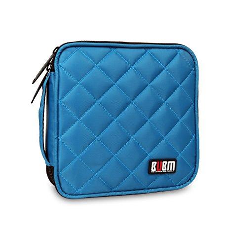 32 Kapazität CD / DVD-Tasche, 230D Space Twill Cover - Blau -