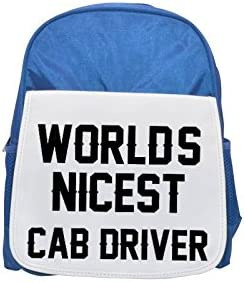 WORLDS NICEST Cab Driver Driver Driver printed kid's Bleu  backpack, Cute backpacks, cute small backpacks, cute Noir  backpack, cool Noir  backpack, fashion backpacks, large fashion backpacks, Noir  fashion backpack 5f954b