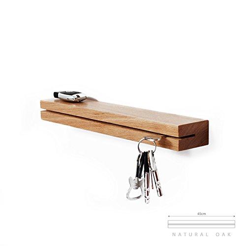 Pannello Appendi Chiavi da Parete Portachiavi Ganci Acciaio Appendiabiti Design Moderno Accessori per Casa Moderne Chiave Metallo Regalo
