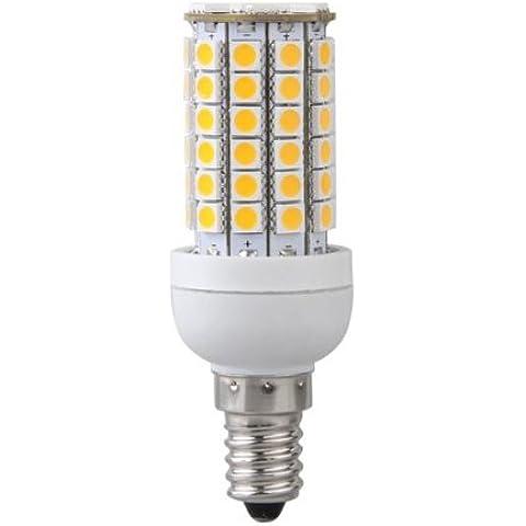 Bombilla Lampara Luz Blanco Calido E14 8W 69 LED 5050 SMD AC 220V Bajo Consumo