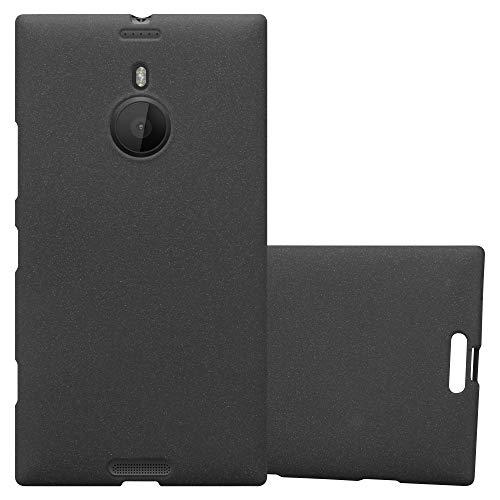 Cadorabo Hülle für Nokia Lumia 1520 - Hülle in Frost SCHWARZ - Handyhülle aus TPU Silikon im matten Frosted Design - Silikonhülle Schutzhülle Ultra Slim Soft Back Cover Case Bumper