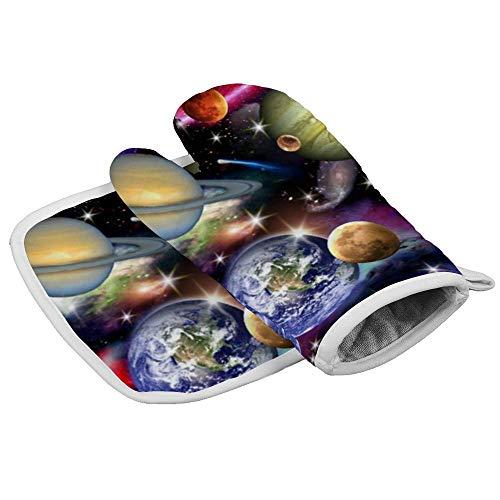 Soloatman Universe - Manopla para Horno Resistente al Calor, Manoplas de algodón Suave,...