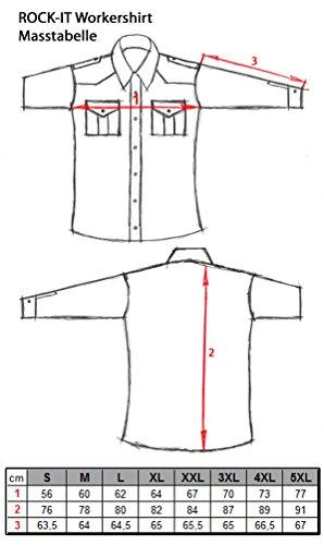 e480a6e5a805 ... ROCK-IT Flanellhemd Herren langarm Holzfällerhemd kariert made in  Europe verschiedene Farben S-5XL