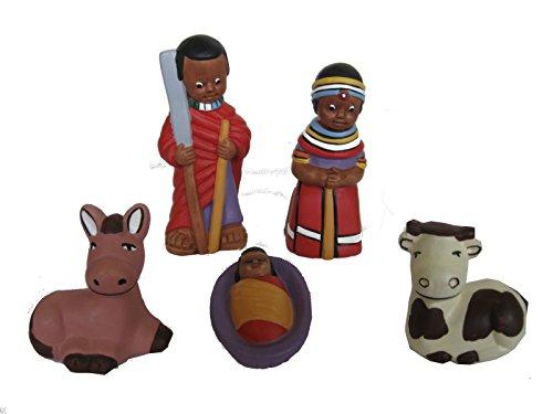Discount Masai ethnique – Crèche terre cuite warrior H.10 cm..