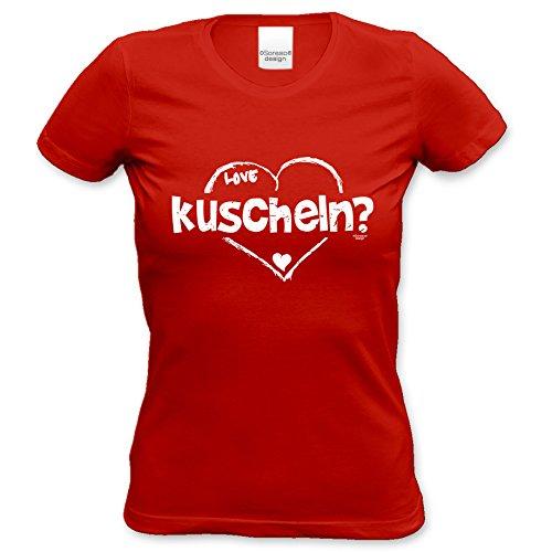Tshirt Girlie Shirt 29. Geburtstag kuscheln als tolle Geschenkidee Farbe: rot Rot