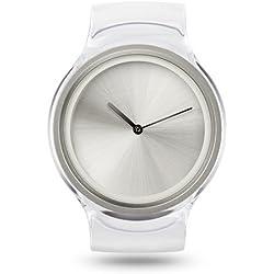 Ziiiro Ion Transparent Kunstoff Acryl Edelstahl Uhr elegante Trend Watch
