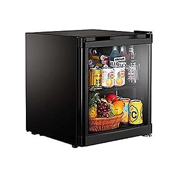 Kitchoff HY50 50 L Aluminium and Glass Direct Cool Standard Single Door Mini Refrigerator (Black)