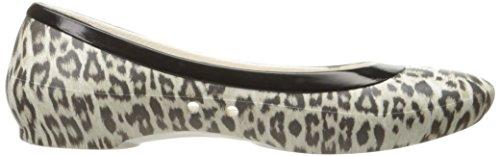 Crocs Linagraphicflat, Ballerine Donna Multicolore (Leopard/oyster)