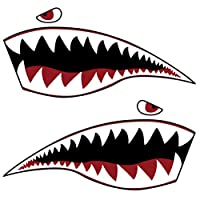 CLISPEED Kayak Sticker Paddle Sticker Shark Sticker Decorative Inflatable Boat Decal Sticker for Wall Cup Laptop Car Truck Van SUV Window