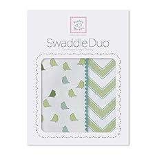 SwaddleDesigns Wickeldecke Duo Chevron, kiwi