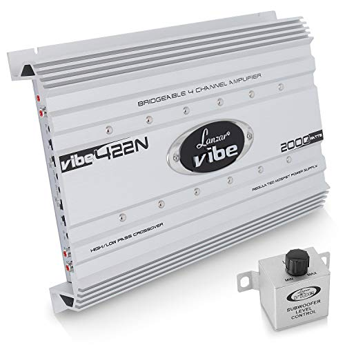 Lanzar VIBE422 - Amplificador Vibe coche 2000 W, 4